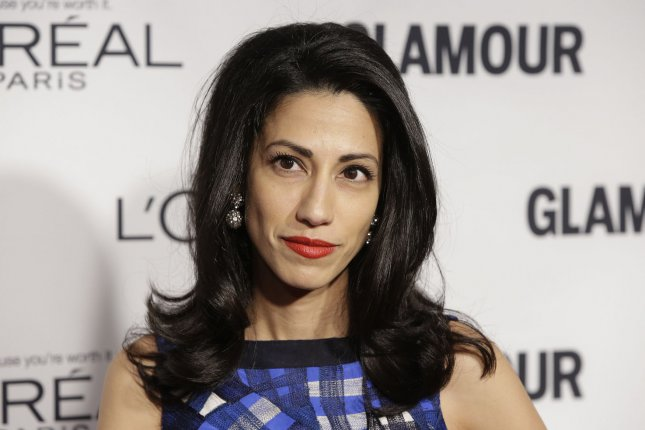Huma Abedin, aide to Democratic presidential hopeful Hillary Clinton, was interviewed by the FBI in an investigation into Clinton's use of a private email server while she was secretary of state. Photo by John Angelillo/UPI