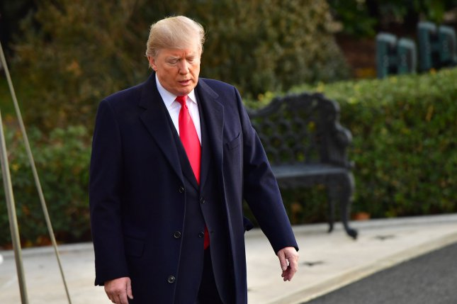 President Donald Trump departs the White House Monday for a day trip to Utah, where he announced his administration would scale back federal protections for two national monument areas there. Photo by Kevin Dietsch/UPI