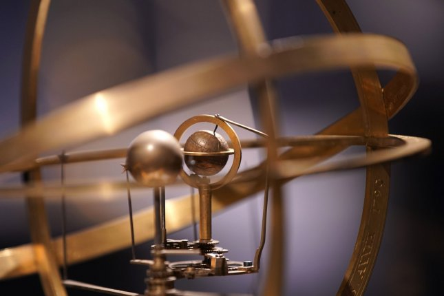 An orrery clock is part of the upcoming Making Marvels: Science and Splendor at the Courts of Europe exhibit at The Met in New York. Photo by John Angelillo/UPI