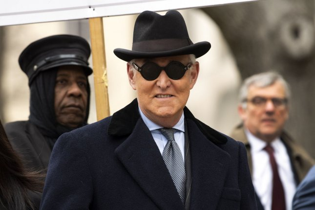 Roger Stone, former campaign adviser to U.S. President Donald Trump, was unsuccessful in having his conviction overturned. File Photo by Kevin Dietsch/UPI