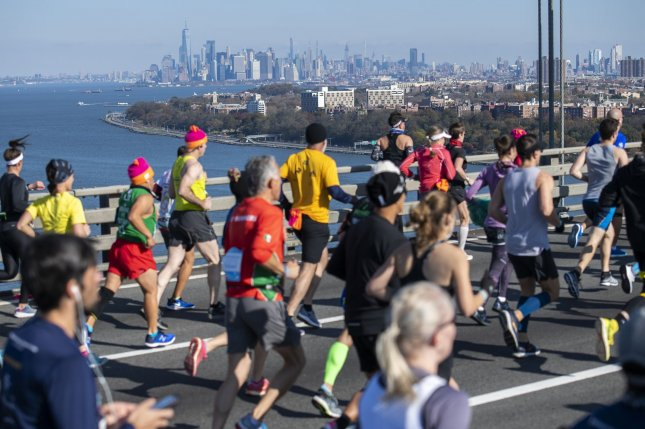A world record of more than 53,000 runners finished the 2019 New York City Marathon, while this year's event has been canceled due to the coronavirus. File Photo by Corey Sipkin/UPI