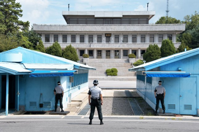 North Korean media has removed articles denouncing the South Korean government following a decision from Kim Jong Un to suspend military retaliation. File Photo by Keizo Mori/UPI
