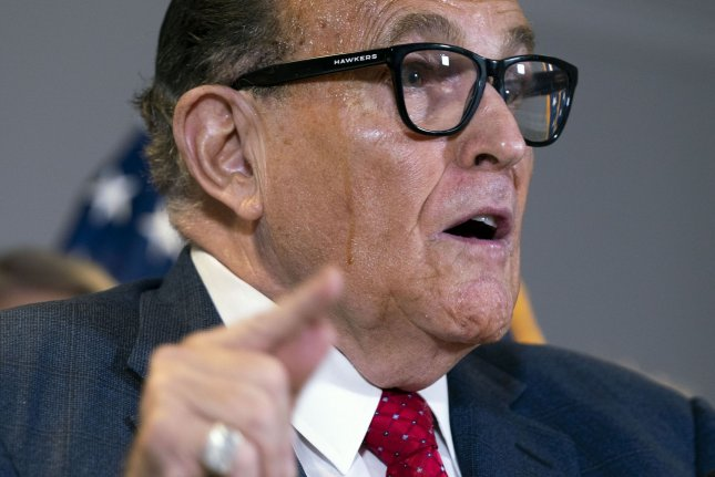 Rudy Giuliani, President Donald Trump's campaign legal adviser, says he will not represent Trump at his upcoming impeachment trial in the U.S. Senate. File Photo by Kevin Dietsch/UPI
