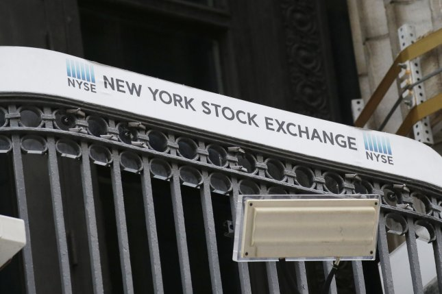 The Dow Jones Industrial Average gained 306 points on Monday while the S&P 500 and Nasdaq Composite fell as investors continued to sell off tech stocks.Photo by John Angelillo/UPI