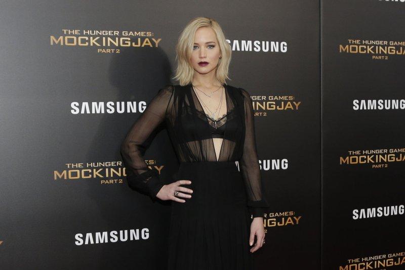 Jennifer Lawrence arrives on the red carpet at 'The Hunger Games: Mockingjay -- Part 2' New York premiere on Nov. 18, 2015. Photo by John Angelillo/UPI