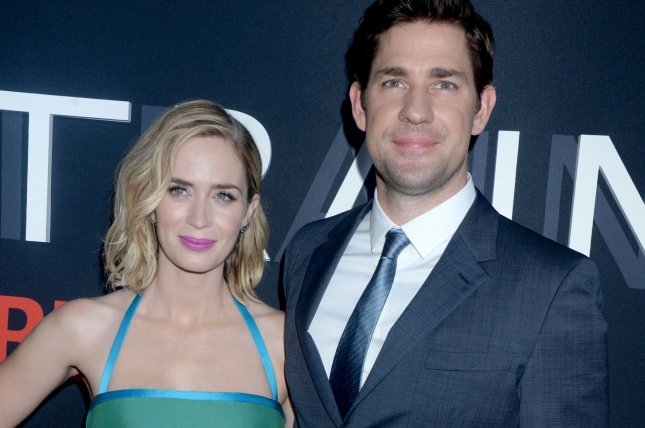 Emily Blunt and John Krasinski arrive on the red carpet at The Girl on the Train New York premiere on October 4, 2016. The couple are working together on the film A Quiet Place. File Photo by Dennis Van Tine/UPI