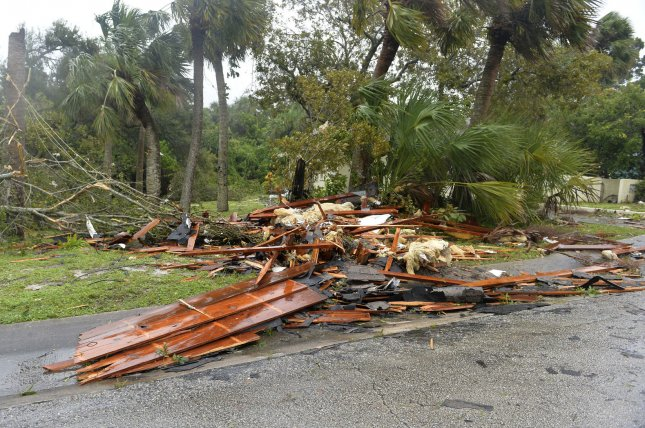 Tornadoes spawned from the outer bands of Hurricane Irma caused damage in Palm Bay, Fla., on Sunday. After making landfall in the Florida Keys, the storm proceeded on a northerly track and will affect the entire State of Florida for the next 24 to 36 hours. Photo by Joe Marino/UPI