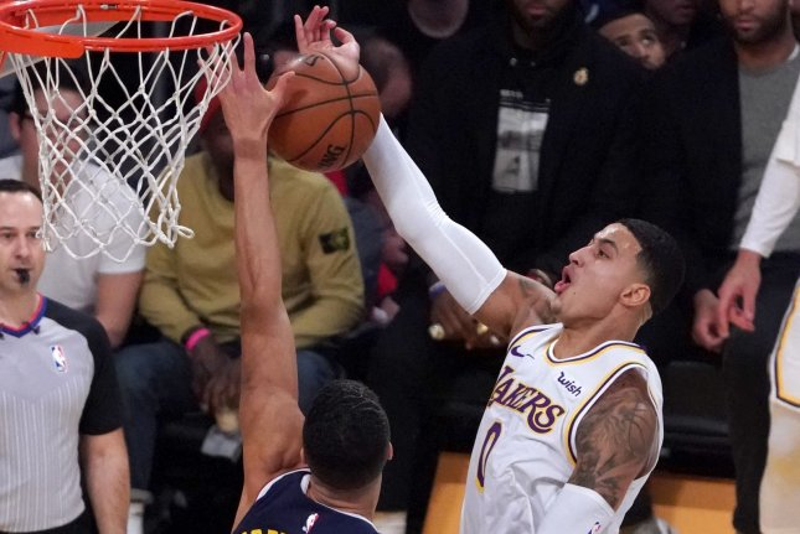 Los Angeles Lakers forward Kyle Kuzma has averaged 11.8 points per game this season. File Photo by Jon SooHoo/UPI