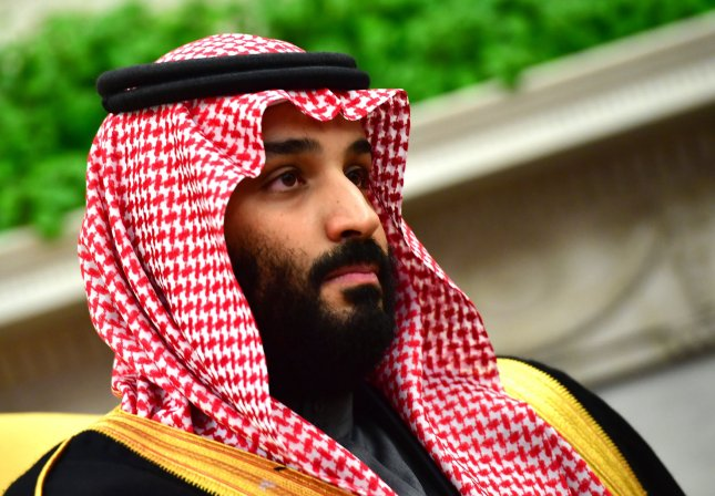 Crown Prince Mohammed bin Salman of the Kingdom of Saudi Arabia is seen during a meeting with President Donald Trump in the Oval Office at the White House on March 20, 2018 in Washington, D.C. File Photo by Kevin Dietsch/UPI