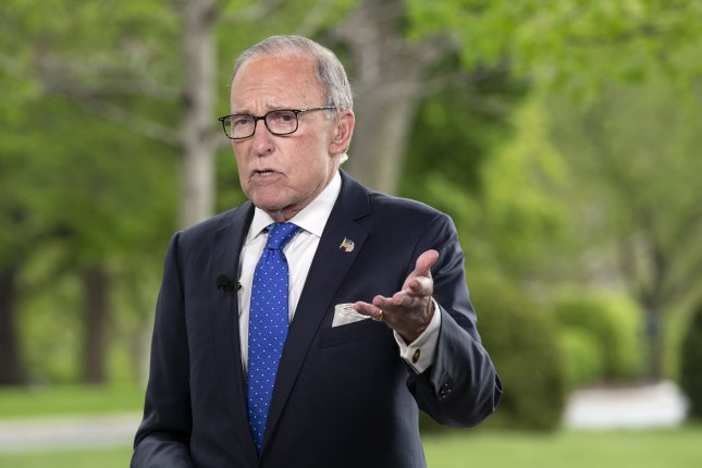 National Economic Council Director Larry Kudlow said Sunday the Trump administration is waiting to execute the current round of funding for small business loans under the Paycheck Protection Program before deciding on a third round of funding. Photo by Stefani Reynolds/UPI