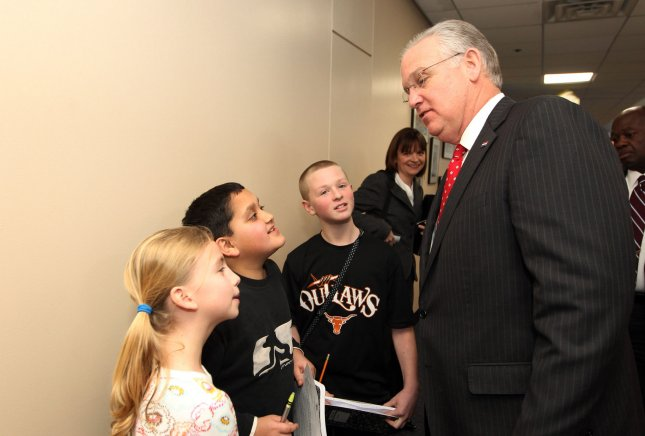 'Boys will be boys' in the United States, but not in Asia. Missouri Gov. Jay Nixon speaks to children at Oak Brook Elementary School in the Parkway School District after recognizing the district for its continued academic excellence, in Ballwin, Missouri on January 24, 2013. UPI/Bill Greenblatt