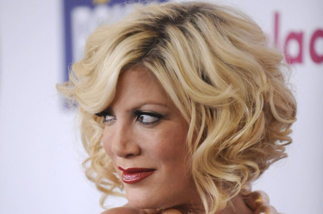 Tori Spelling at the GLAAD Media Awards on April 10, 2011. The reality star and Kristen Taekman appear to have bonded amid the latter's Ashley Madison scandal. File photo by Phil McCarten/UPI