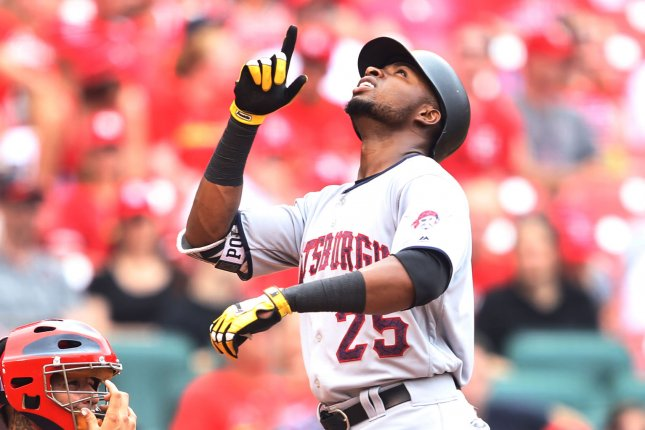 buy popular 083ce f7b05 Pittsburgh Pirates' Gregory Polanco leaves after outfield ...
