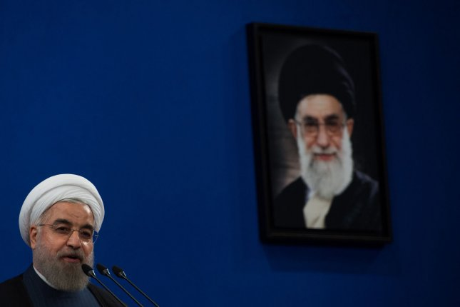 Iranian President Hassan Rouhani is making his case on the economy under his first term in office as he prepares to run for reelection. Iranians vote for their next president later this month. File photo by Ali Mohammadi/UPI