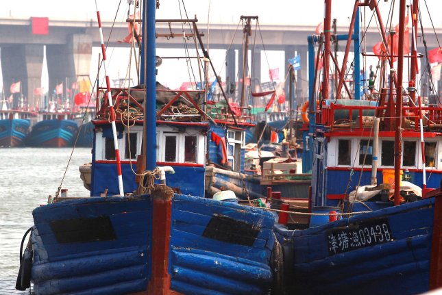 Chinese fishing boats are showing up by the thousands in North Korean waters as Pyongyang faces restrictions on its seafood trade, a new study says. File Photo by Stephen Shaver/UPI