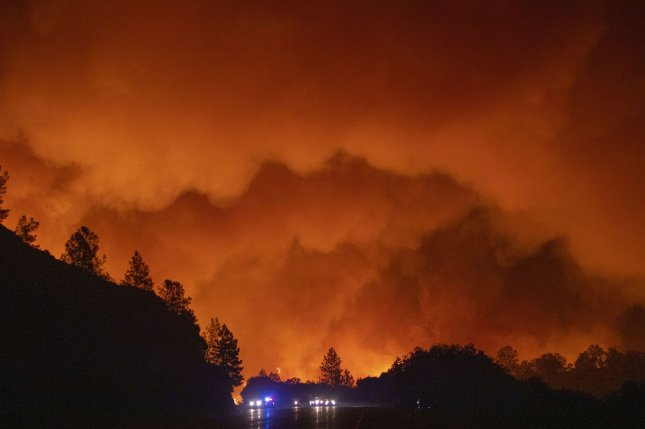 The Department of Health and Human Services declared a public health emergency in Oregon citing dangerous health conditions caused by smoke stemming from the wildfires burning in the western United States. Photo by Peter DaSilva/UPI