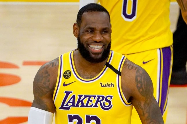 Los Angeles Lakers forward LeBron James said a Cleveland Cavaliers front office executive motivated his 46-point performance on Monday in Cleveland. File Photo by Jon SooHoo/UPI