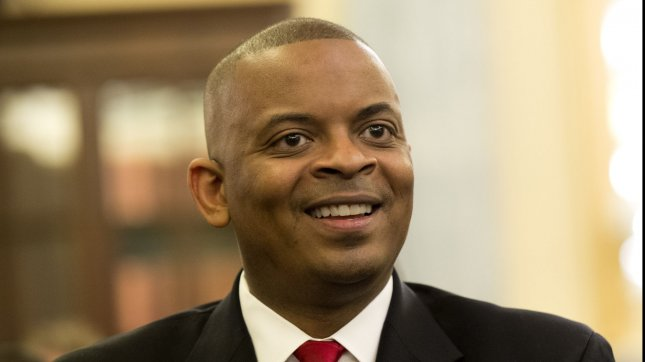 The Senate Thursday confirmed Anthony Foxx, to be the next transportation secretary by unanimous vote. file photo. UPI/Kevin Dietsch