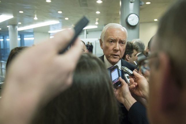Sen. Orrin Hatch (R-UT) speaks to reporters on Capitol Hill in Washington, D.C., March 10, 2015. Photo by Kevin Dietsch/UPI