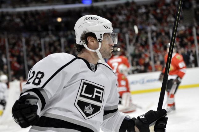 Los Angeles Kings center Jarret Stoll. UPI/Brian Kersey