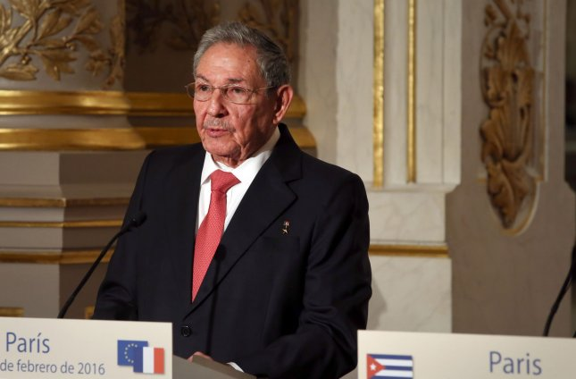 Cuban President Raul Castro, shown here in Paris in February, favors the use of maritime shipments for dangerous missions. File Photo by Maya Vidon-White/UPI