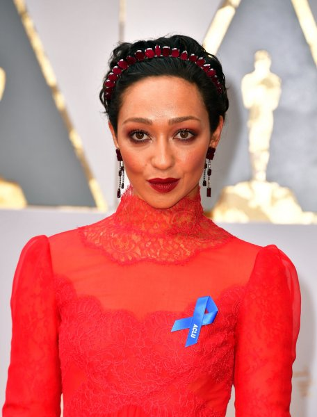 Actress Ruth Negga arrives on the red carpet for the 89th annual Academy Awards at the Dolby Theatre in the Hollywood section of Los Angeles on February 26. Photo by Kevin Dietsch/UPI