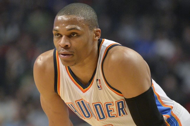 Russell Westbrook scored a career-high 58 points but not even that was enough to pull off a win as Portland defeated Oklahoma City 126-121 on Tuesday at the Chesapeake Energy Arena. File Photo by Brian Kersey/UPI