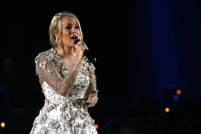 Carrie Underwood broke her wrist in a fall at her home Friday night. Photo by John Sommers II/UPI