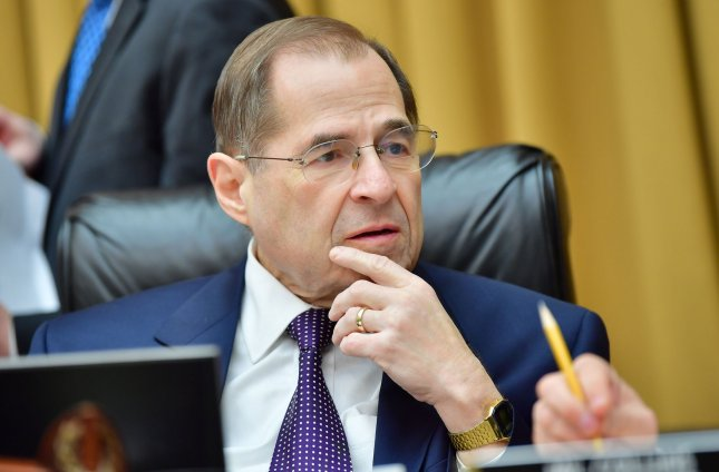 Chairman of the House Judiciary Committee, Jerry Nadler, D-N.Y., said the committee will request documents from more than 60 people associated with President Donald Trump as part of its investigation into whether he obstructed justice. File photo by Kevin Dietsch/UPI