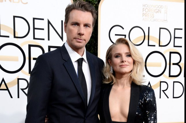 Dax Shepard (L) and Kristen Bell are working on their first TV project together. File Photo by Jim Ruymen/UPI