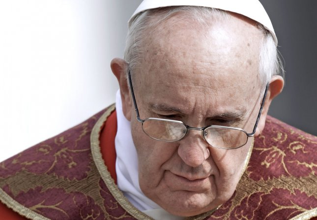"""Pope Francis: Cultivating and caring for creation is God's indication given to each one of us not only at the beginning of history. It means nurturing the world with responsibility and transforming it into a garden, a habitable place for everyone."""" UPI/Stefano Spaziani"""