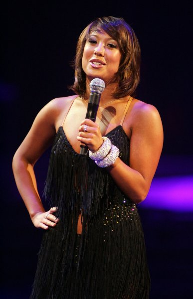 Cheryl Burke performs in the Dancing with the Stars 2008 tour at the Bank Atlantic Center in Sunrise, Florida on January 23, 2008. (UPI Photo/Michael Bush)