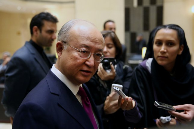 IAEA chief Yukiya Amano said there is satellite evidence of North Korea activities at the Yongbyon nuclear complex, but the information is limited without inspectors on the ground. UPI/Maryam Rahmanian