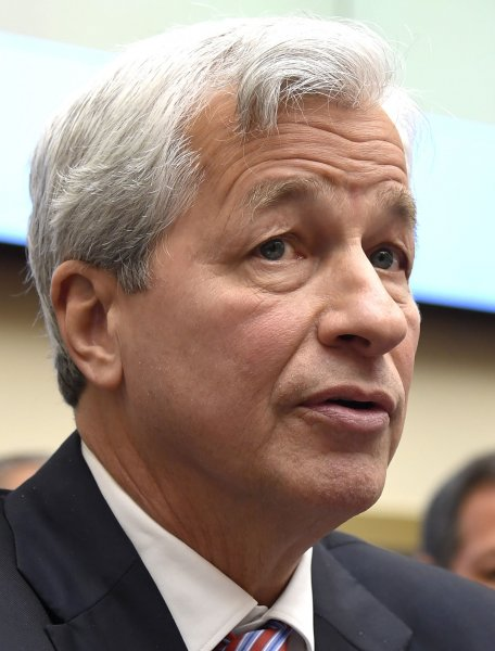 JPMorgan Chase Chairman and CEO Jamie Dimon makes remarks as he testifies before the House financial services committee Wednesday. Photo by Mike Theiler/UPI