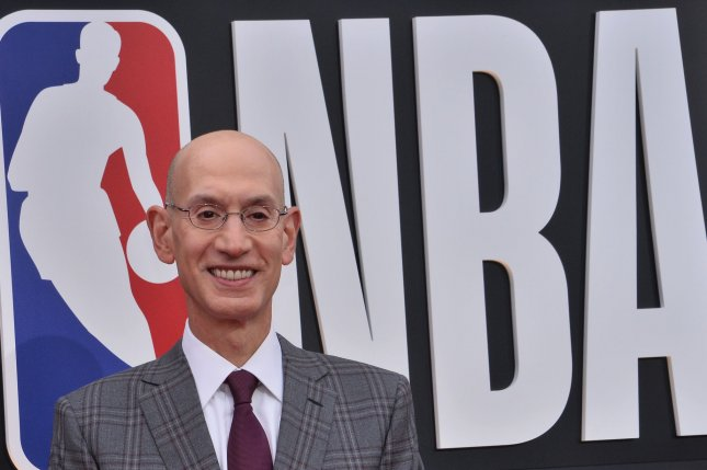 NBA commissioner Adam Silver said Monday that the league won't even consider a return until May 1. File Photo by Jim Ruymen/UPI
