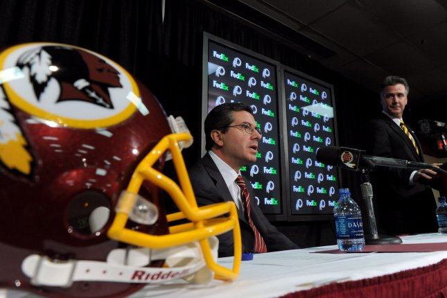 The women made no allegations against team owner Daniel Snyder (C) but expressed skepticism that he was unaware of the alleged misconduct. File Photo by Roger L. Wollenberg/UPI