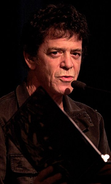 NYP2003013017 - NEW YORK, Jan. 30 (UPI) -- Singer/composer Lou Reed reads selections from his latest work The Raven which was inspired by the works of Edgar Allen Poe during a Jan. 30, 2003 instore promotional at Barnes and Noble bookstore in New York. ep/Ezio Petersen UPI