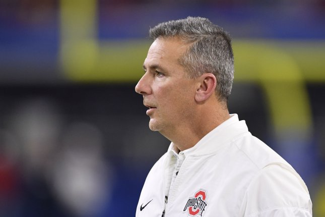 Ohio State Buckeyes head coach Urban Meyer stands on the sidelines during the Goodyear Cotton Bowl Classic on December 29, 2017 at AT&T Stadium in Arlington, Texas. Photo by Shane Roper/UPI