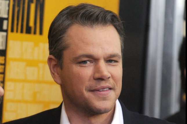 Matt Damon arrives on the red carpet at 'The Monuments Men' premiere at the Ziegfeld Theatre in New York City on February 4, 2014. UPI/Dennis Van Tine