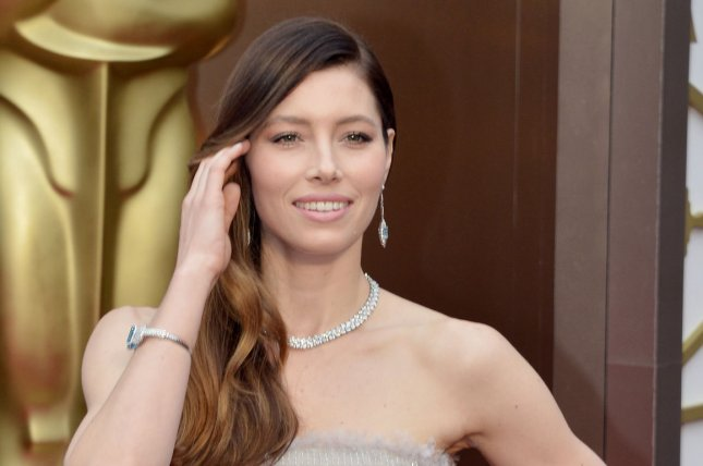 Jessica Biel arrives on the red carpet at the 86th Academy Awards at Hollywood & Highland Center in the Hollywood section of Los Angeles on March 2, 2014. UPI/Kevin Dietsch