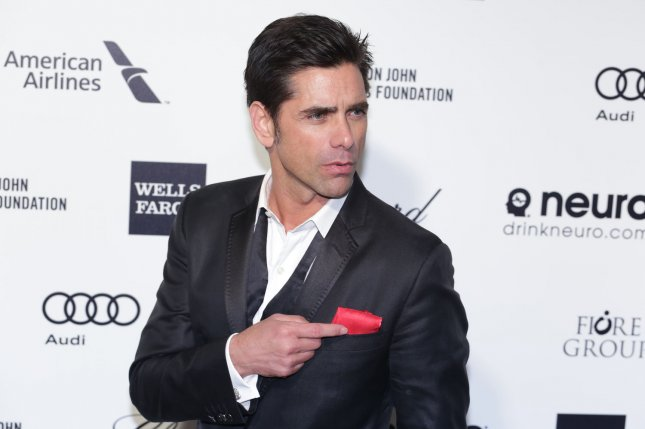 John Stamos arrives for the Elton John AIDS Foundation Academy Awards viewing party in Los Angeles on Feb. 22, 2015. Photo by Jonathan Alcorn/UPI
