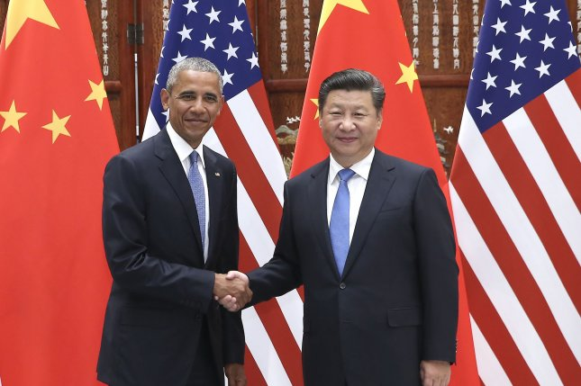 U.S. President Barack Obama and Chinese President Xi Jinping met one last time in Lima, Peru, during the gathering of the Asia-Pacific Economic Cooperation. Pool Photo by UPI