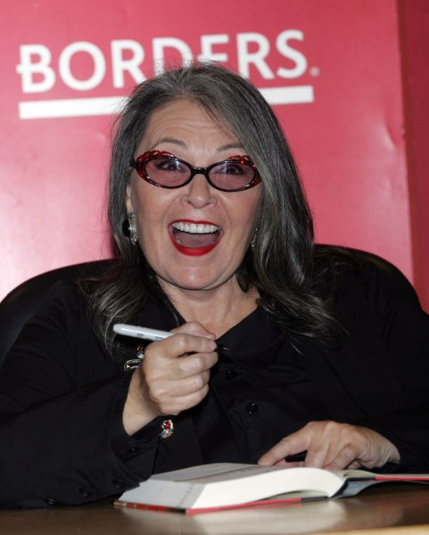 Roseanne Barr signs copies of her new book Roseannearchy at Borders Books in New York on January 6, 2011. UPI /Laura Cavanaugh
