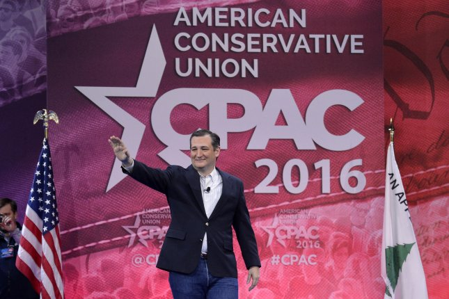 Republican presidential candidate Sen. Ted Cruz waves as he arrives to address the Conservative Political Action Conference (CPAC), March 4, 2016, in National Harbor, Maryland. Thousands of conservative activists, Republicans and Tea Party Patriots gathered to hear politicians, presidential hopefuls and radio and TV hosts speak, lobby and network ahead of the presidential election in 2016. Photo by Mike Theiler/UPI