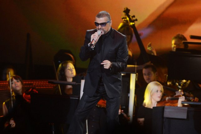 British singer George Michael performs in London on October 13, 2012. A new version of Fantasy, a song he recorded before he died, was released Thursday. File Photo by Rune Hellestad/UPI