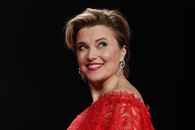 Ash vs. Evil Dead star Lucy Lawless walks on the runway at the American Heart Association's Go Red For Women Red Dress Collection 2017 fashion show on February 9 in New York City. File Photo by John AngelilloUPI