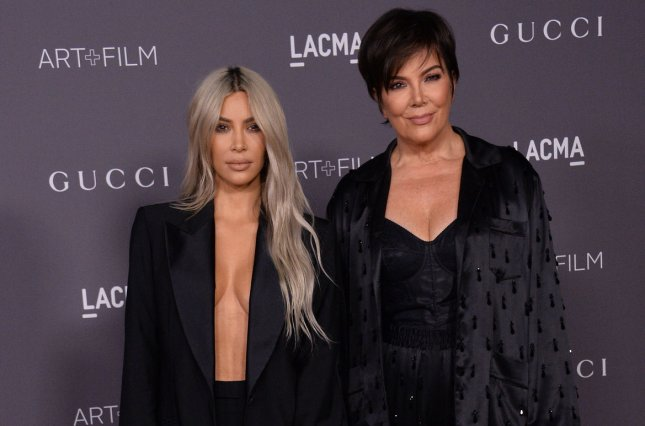 Kris Jenner (R) with her daughter Kim Kardashian. Jenner released a teaser for an upcoming episode of Family Feud the features the Kardashian clan. File Photo by Jim Ruymen/UPI