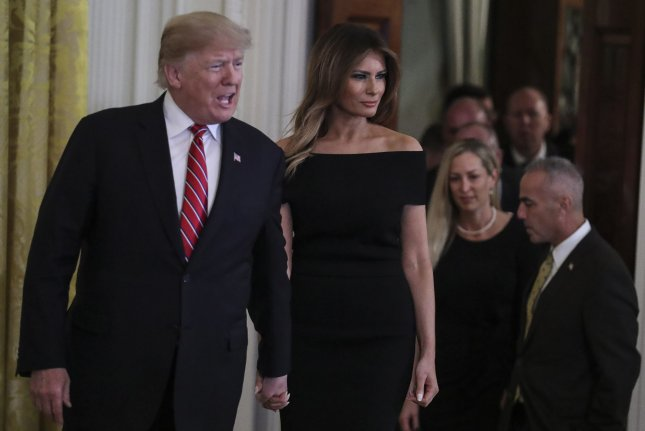 It appears that despite all denials, the president knew about and ordered hush money to be paid to a porn actress and former Playboy bunny. Whether that broke election finance laws or not, Melania Trump cannot be pleased. Photo by Oliver Contreras/UPI