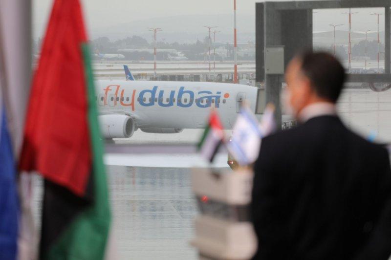 FlyDubai apologized after 155 Israeli travelers' entry into Dubai was delayed Monday over visa issues. File Photo by Emil Salman/UPI