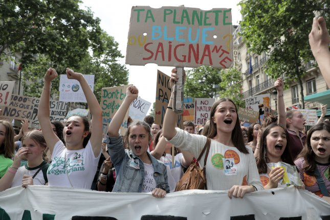 France on Tuesday abandoned plans to amend its Constitution to address climate change concerns following a disagreement by the houses of Parliament over the language in the statement. File Photo by Eco Clement/UPI